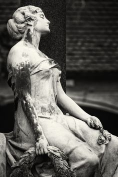 Mourning Beauty II #cemetery #charm #death #grave #tomb
