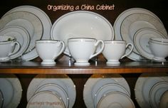 If you are lucky enough to own both a nice china cabinet and a nice set of china, you might want to know the best way to arrange your china for both display