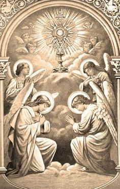 The angels in Adoration