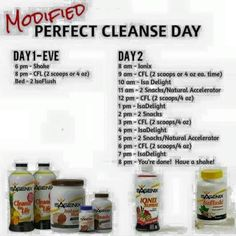 Modified Cleanse day