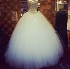 Cinderella wedding dress, it's absolutely gorgeous.