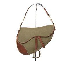 Authentic Christian Dior small saddle bag + original dust bag & card