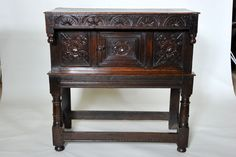 17th century Oak Court Cupboard - rare small size circa 1670 Gloucestershire