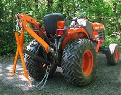 3 Point Hitch Log Skidder attachment on a small tractor