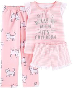 Little one Pajamas turn your toddler warm for sleep and going to sleep snuggles! Get your preferred design, like footie pajamas and comfy pajama forms. Kids Pjs, Kids Girls, Carter Kids, Girls Pajamas, Dresses With Leggings, Baby Girl Newborn, Pajama Set, Kids Fashion, Fashion Clothes