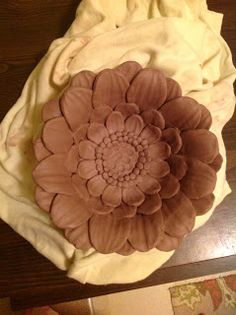 Pottery and Paint: Dahlia bowl (in progress)