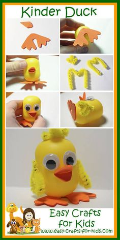 Step by Step Instructions for Duck Crafts for Kids