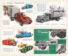 1945 International Harvester Trucks Models and Brochure Antique Trucks, Vintage Trucks, Old Trucks, International Harvester Truck, Vintage Advertisements, Vintage Ads, Art Deco Car, Medium Duty Trucks, 4x4