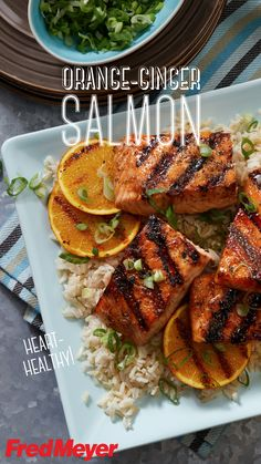 Guacamole Recipe Discover Orange-Ginger Salmon An Asian-style marinade transforms heart-healthy salmon into a satisfying main dish. Grill up this sweet tangy recipe and enjoy a tasty summer cookout. Get the complete recipe and ingredients from Fred Meyer! Fish Dishes, Seafood Dishes, Main Dishes, Clean Eating, Healthy Eating, Salmon Recipes, Fish Recipes, Recipies, Ginger Salmon
