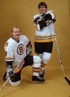 Rick Middleton and Ray Bourque Boston Bruins NHL Hockey. Hockey Pants, Ice Hockey Teams, Stars Hockey, Sports Teams, Boston Bruins Hockey, Pittsburgh Penguins Hockey, Chicago Blackhawks, Ray Bourque, Hockey Girls