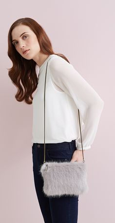 376f40c521f Faux Fur Luxury for Fashion and Home. Faux FurClutchesOpalPouchClutch ...