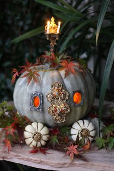 Cinderella pumpkin by J. Chastain of the blog, French Kissed