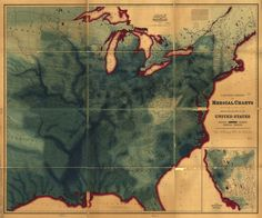 Malaria distribution in the United States 19th century