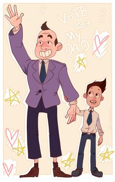 Father and Son Mayor and Buck dewey // Steven Universe