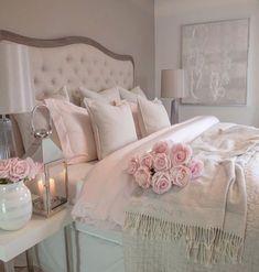 30 Cozy Romantic Bedroom Design Ideas For Comfortable Bedding bedroomdecor bedroomideas bedroomdesign Trendy Bedroom, Girls Bedroom, Master Bedroom, Modern Bedroom, Pink Bedrooms, Contemporary Bedroom, Master Suite, Romantic Bedroom Design, Romantic Bedding
