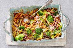 Kijk wat een lekker recept ik heb gevonden op Allerhande! Snelle ovenpasta met broccoli en spekreepjes