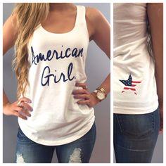 American Girl Racerback Tank Top