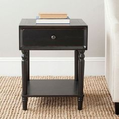 Three Posts Harwinton End Table Color: Black
