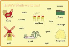 Rosie's Walk A4 Word Mats (free story resources) | Free EYFS / KS1 Resources for Teachers