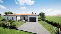 Home Building Design, Home Room Design, Building A House, Village House Design, Village Houses, Tiny House Cabin, House On A Hill, Modern Villa Design, Pink Houses