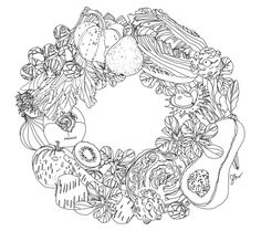 480 Best Food-Related Mandala/Coloring pages images
