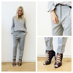 All grey is one of my favorite trends this AW today I mixed a pair of tailored trousers with a loose casual jumper and finished up with a pair of heels. #ootd#lotd#grey#style#asos#blond#girl#happy#smile#stylist#fblogger#lookoftheday#heels#casual#tailored#instafashion#fashion #Padgram