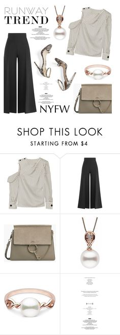 """""""Runway trend!"""" by pearlparadise ❤ liked on Polyvore featuring Monse, M. Gemi, StyleNanda, NYFW, contestentry, runwaytrend, pearljewelry and pearlparadise"""