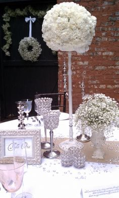 bling wedding reception decorations - Google Search
