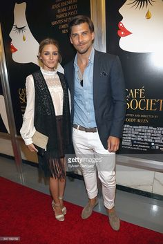 Olivia Palermo and Johannes Huebl attend Amazon & Lionsgate with The Cinema Society Host the New York Premiere of 'Cafe Society' on July 13, 2016 in New York City.