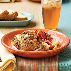 Chicken Thighs With Chunky Tomato Sauce - Chicken Thigh Recipes  - Southern Living