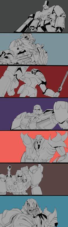 Different styles of Megatron