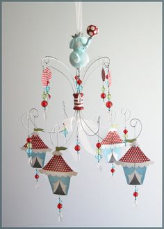 Circus Elephant Chandelier Mobile $185 @ http://www.etsy.com/listing/85263102/circus-elephant-chandelier-mobile