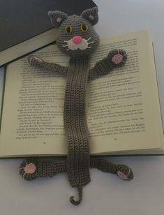 Lesezeichen; Katze - Häkelanleitung