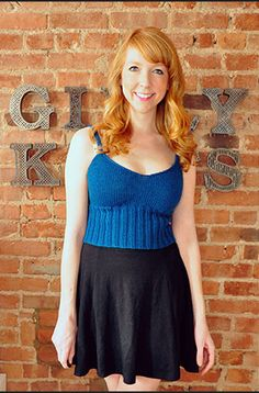 This Simple Summer Tank Top is a great easy knitting pattern for when the sun is out and the weather's warm. The basic pattern is flexible, so have fun experimenting with the length of the ribbing and the color and pattern of the yarn.