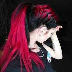 Not only are the hair colors lovely, but the styled ponytail is HOT. Must try this.