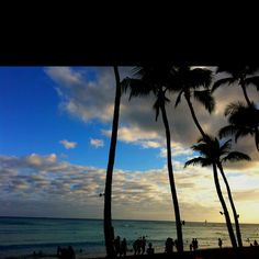 Waikiki, Oahu  No matter how many times I visited this spot it never got old. I always felt like I was on vacation. Especially at sunset.