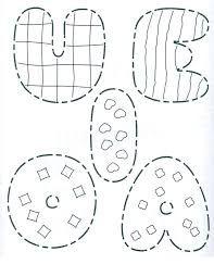 Resultado de imagen para las vocales para colorear mayuscula y minuscula