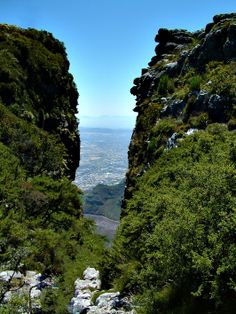 The Platteklip Gorge on top of Table Mountain, Cape Town, South Africa. Table Mountain, Mountain High, Places To Travel, Places To Visit, Clifton Beach, Cape Town South Africa, Kwazulu Natal, Natural Scenery, African Countries