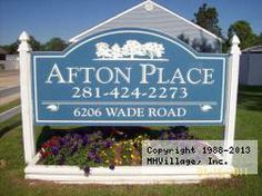 Afton Place Mobile Home Park In Baytown TX