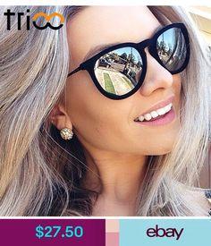 3fb30cd307 TRIOO Women Sunglasses Polarized Mirror Brand Designer Mirror Oculos  Fashion Sun Glasses For Women Black Simple Shades