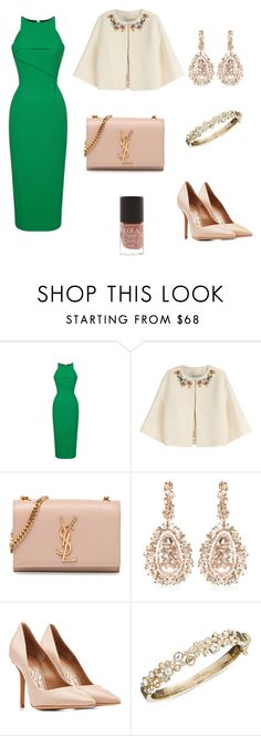 Green Love #6 by aseel-aziz on Polyvore featuring Roland Mouret, Emilio Pucci, Salvatore Ferragamo, Yves Saint Laurent, Givenchy, Suzanne Kalan and M&S