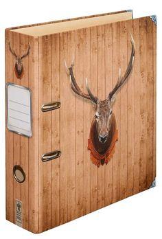 """Ordner Motiv """"Rotwild""""   DIN A4   8 cm breit   Motivordner mit Hirsch-Motiv, braun - Schreibgefühl®: Amazon.de: Bürobedarf & Schreibwaren"""