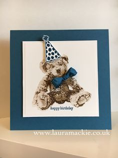 Stampin' Up! UK Demonstrator Laura Mackie: Stampin' Up! Baby Bear goes to a party!!!