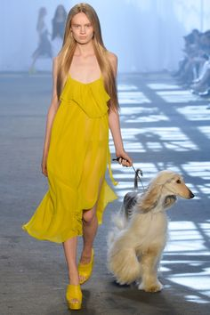 GIRL YELLOW JEN KAO DRESS WITH DOG