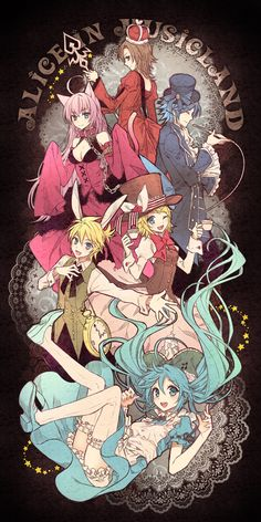 Alice in Music land - vocaloid by animebabe721.deviantart.com on @DeviantArt