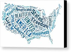 The United States Of America Map Canvas Prints Art.