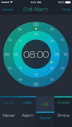 alarm app interface - Google 검색