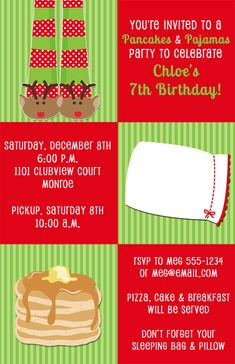 christmas pajama birthday party invitations expressions paperie start your party out with these adorable holiday - Christmas Pajama Party