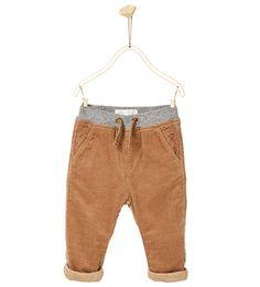 Pantalon en velours côtelé doublé-PANTALONS-Bébé garçon-Bébé | 3mois-3ans-ENFANTS | ZARA France