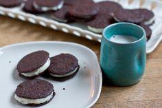 Homemade Oreo Cookies. #food #cookies